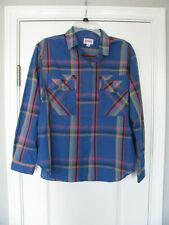 Amelia Button Front Long Sleeve Plaid Blouse 2 Front Pockets Size 16 Petite