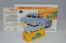 Dinky Toys Atlas 24U Simca Aronde mint in box with leaflat and certificate