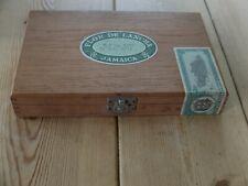 More details for flor de lancha jamaica wooden cigar box