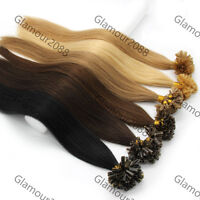 "26"" Pre Bonded Keratin Glue Nail/U Tip Remy Human Hair Extensions 0.7g/s 100S"