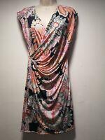 Esperance Multicoloured Floral Sleeveless A-Line Dress - Size 10 (121g)