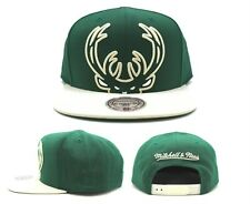 Milwaukee Bucks New Mitchell & Ness Cropped Green Cream Era Snapback Hat Cap