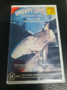 Sleepaway camp 2 VHS tape Movie unhappy Campers Horror