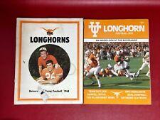 2 Texas Football Magazines Longhorns 1968 & 1976