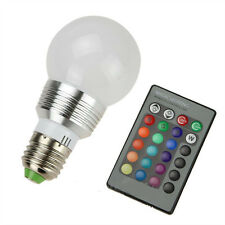 3W E27 LED RGB Magic Light Bulb Changing With Wireless Remote Control 16 Colors