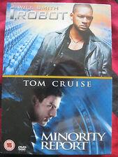 I ROBOT / MINORITY REPORT DVD. EAN: 5039036019484. Cert 15. 2 DVD's. NEW/SEALED.