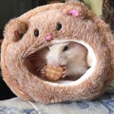 Cute Hamster Animal Warm Bear Shape House Plush Ferret Sleeping Bed Pet Supplies
