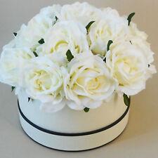 Floristry Hat Boxes Vintage LOOK Set of 3 Cream Black Round Floral Gift Display Empty