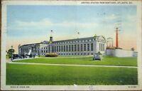Atlanta, GA 1939 Linen Postcard: US Penitentiary/Jail/Prison - Georgia