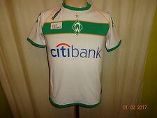 """Werder Bremen Kappa Kinder Heim Trikot 2008/09 """"Citibank"""" + Handsigniert Gr.152"""