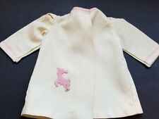 Original Terri Lee Tagged Cream Duster Or Coat With Pink Lamb Appique-Good Cond