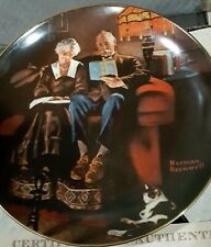 Edwin M Knowles Rockwell's Light Campaign Series Collector Plate-Evening's Ease