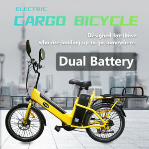 48V250W Electric Cargo Bike Family Ebike Food Cargo Delivery Electric Bicycle