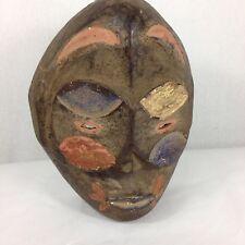Pintado De Madera Tallada bamileke Máscara de Camerún arte tribal africano 30 Cm