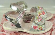 Girls Lelli Kelly Silver Alexandra LK4472 Glitter Sandals US 8 /UK 25 Retail $69