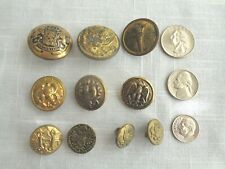 Military Misc'l 10 Vintage Buttons (#3775)