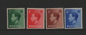 GB Edward VIII 1936 SG457-460 MNH unmounted mint set stamps