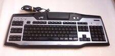Logitech G15 USB Wired Blue Backlit Gaming Black/Gray Keyboard Y-UW92 TESTED