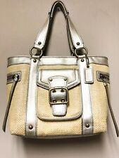 Coach Gold Straw Leather Purse Shoulder Bag Legacy L05K-113
