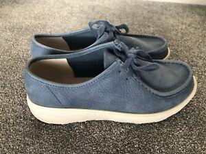 FitFlop Blue Suede Wobbleboard Trainers Shoe Size 7UK