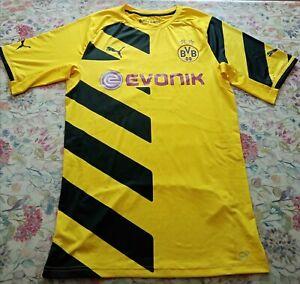 Borussia Dortmund Home Htnic Football Shirt 2014/15 XXL Authentic Puma Yellow