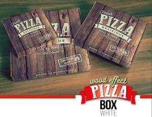 """100 Pizza Boxes Takeaway Strong Quality Brown 7"""" 8"""" 9"""" 10"""" 11"""" 12"""" 14"""" 16"""" inch"""
