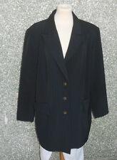 20 200A/6 Wille Damen Designer Blazer Jacke Gr. 48 dunkelblau braun gestreift