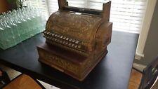 Vintage 1913 NCR Brass Cash Register w/Topper