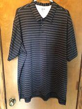 Adidas mens performance golf shirt black/white Xl