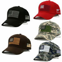 USA AMERICAN Flag Hat Tactical Military Snapback Embroidered Cotton Baseball Cap