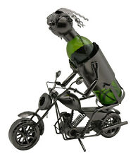 Wine Bodies Motorcycle Rider Metal Wine Bottle Holder Character