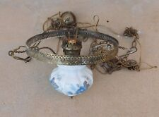 ANTIQUE VICTORIAN CEILING LAMP HANGING ELECTRIC PARLOR LIBRARY FARMHOUSE