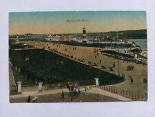 Plymouth Hoe Vintage colour Postcard c1910