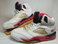 Nike Air Jordan V Retro White/Black/Fire Red - 136027-101 - Size 11 10-16-01