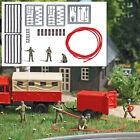 A Set: Firefighter crew OO/HO gauge Busch 7960