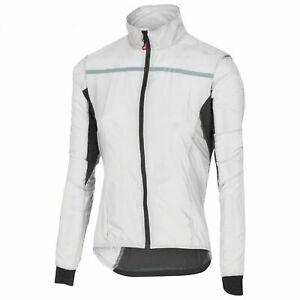 Castelli Women's Superleggera Rain Jacket M UK 12 BNWT White/Grey Windbreaker