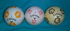 3 used Collectible Callaway Chrome Soft Truvis Golf Balls
