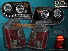 05-07 CHRYSLER 300C/SRT8 PROJECTOR HEADLIGHTS CCFL HALO+LED SMOKE TAIL LIGHTS 06