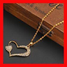 Bangrui Gold Color Crystals love Heart Pendant Necklace for Valentine's Day rhin