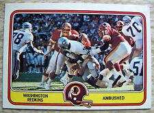 Vintage 1981 FLEER WASHINGTON REDSKINS Seattle NFL Football card