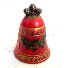 Vintage Napcoware Napco Christmas Bell Vintage Mcm Red Porcelain Japan Xmas