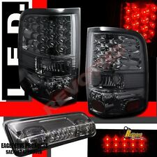 04-08 Ford F150 XL XLT STX FX4 Pickup Smoke LED Tail Lights & 3rd Brake Light