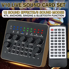 V10 DSP Sound Audio Card Device Microphone Headset Mixer Live 12 Sound Effects