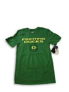 "NWT New Oregon Ducks Basketball Nike ""Fighting Ducks"" Apple Green Large T-Shirt"