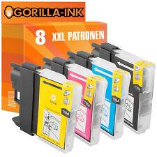 8 Druckerpatronen XXL für Brother DCP-145C DCP-195C DCP-197C DCP-365CN LC980