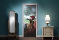 Door Mural Alice in Wonderland Mad Hatters tea Party View Wall Sticker Decal 303