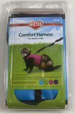 Kaytee Brown Comfort Harness Plus Stretchy Leash Large Blue Ferrets Rabbits