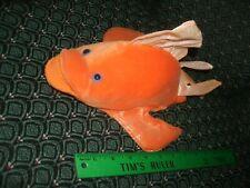 "Hand / Glove Puppet ~ ORANGE FISH ~ Plush ~ CALTOY ~ Approximately 12"" ~ NEW"