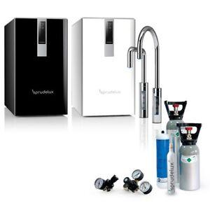 SPRUDELUX® Untertisch-Tafelwasseranlage BLACK & WHITE DIAMOND SERIE + Filter