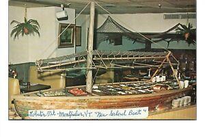 Vintage c1980 Postcard: The Lobster Pot Restaurant Salad Boat Montpelier VT